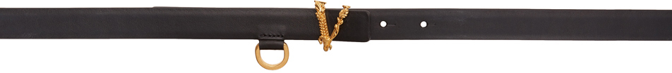 Versace Black Thin Virtus Waist Belt