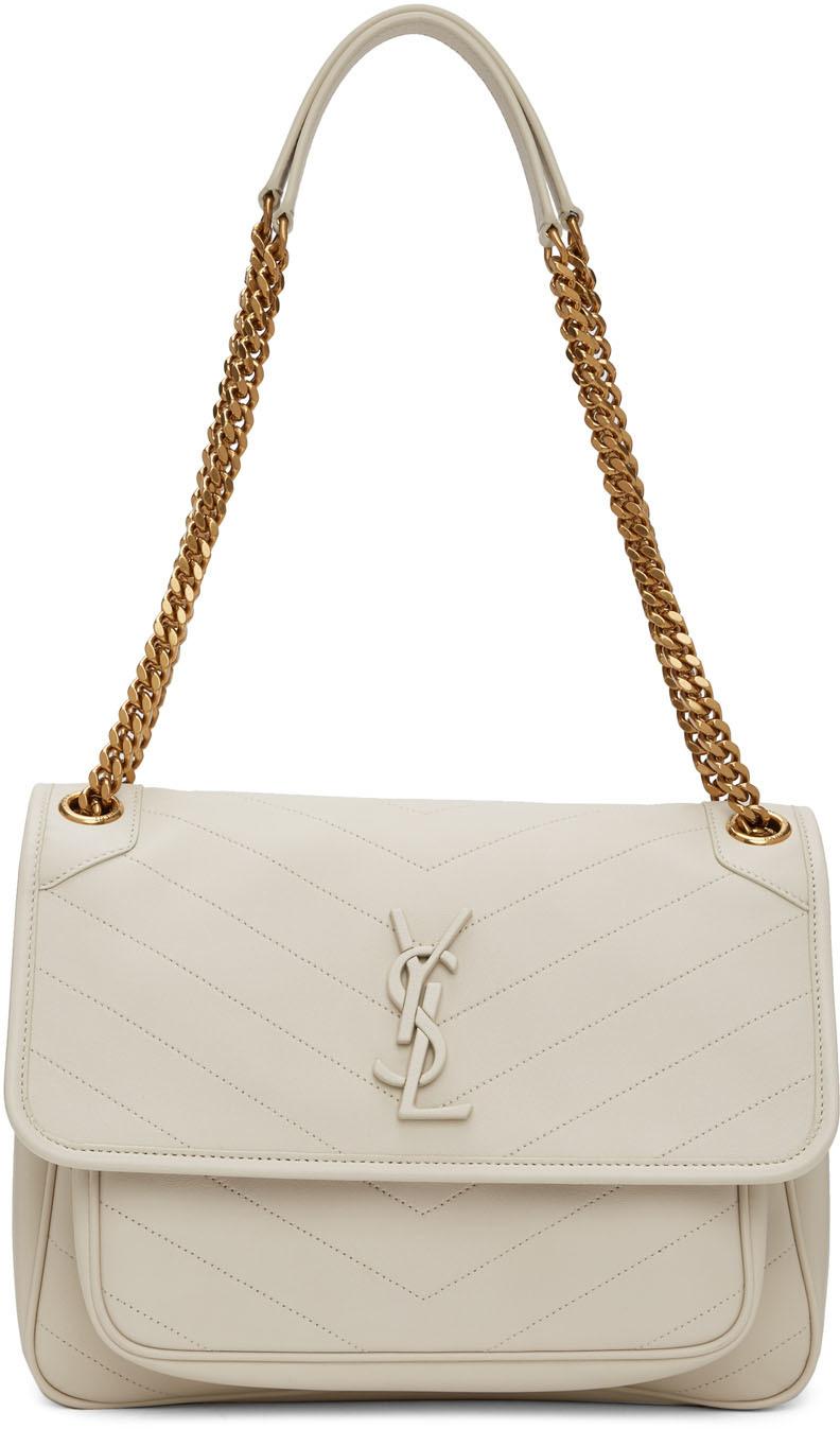 Saint Laurent Off-White Medium Niki Bag