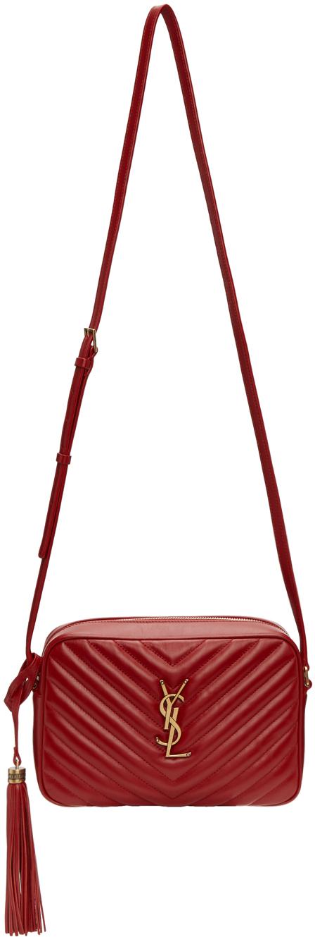 Saint Laurent Red Lou Camera Bag