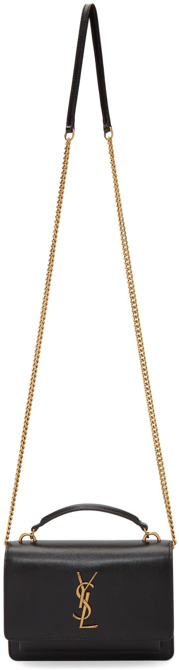 Saint Laurent Black Sunset Chain Wallet Bag