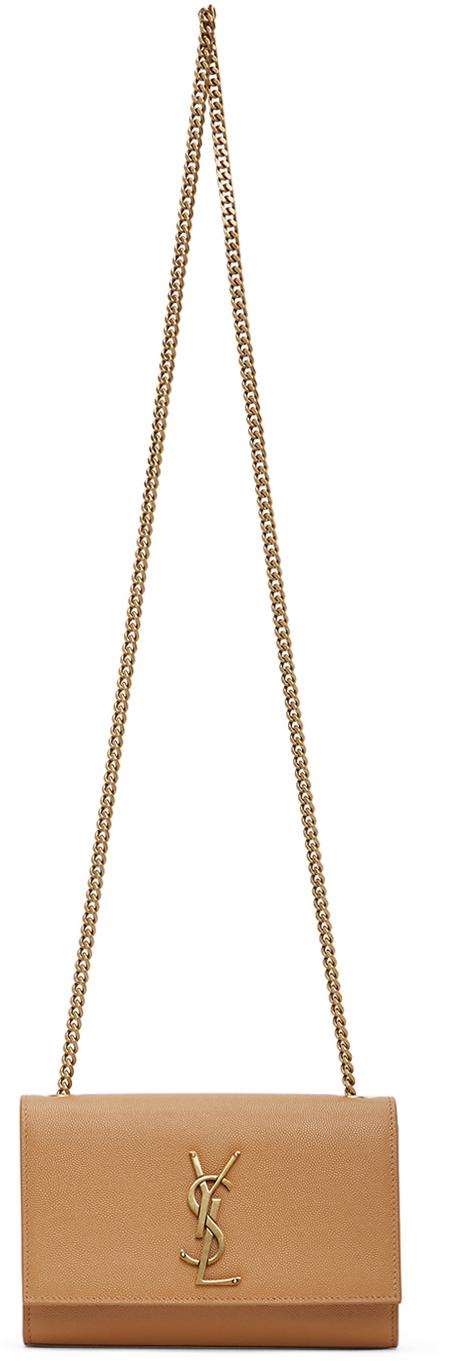 Saint Laurent Tan Small Kate Bag
