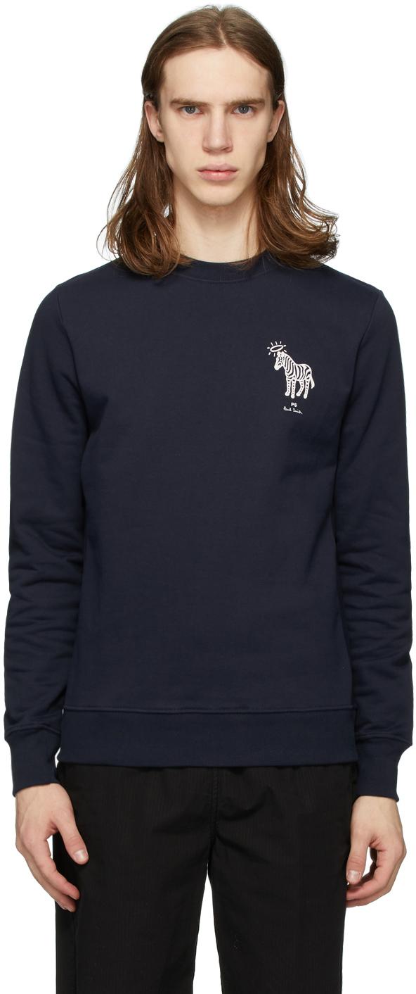 PS by Paul Smith Navy Halo Zebra Sweatshirt