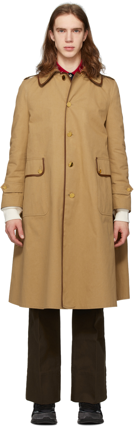 Gucci Tan Cotton Drill Trench Coat