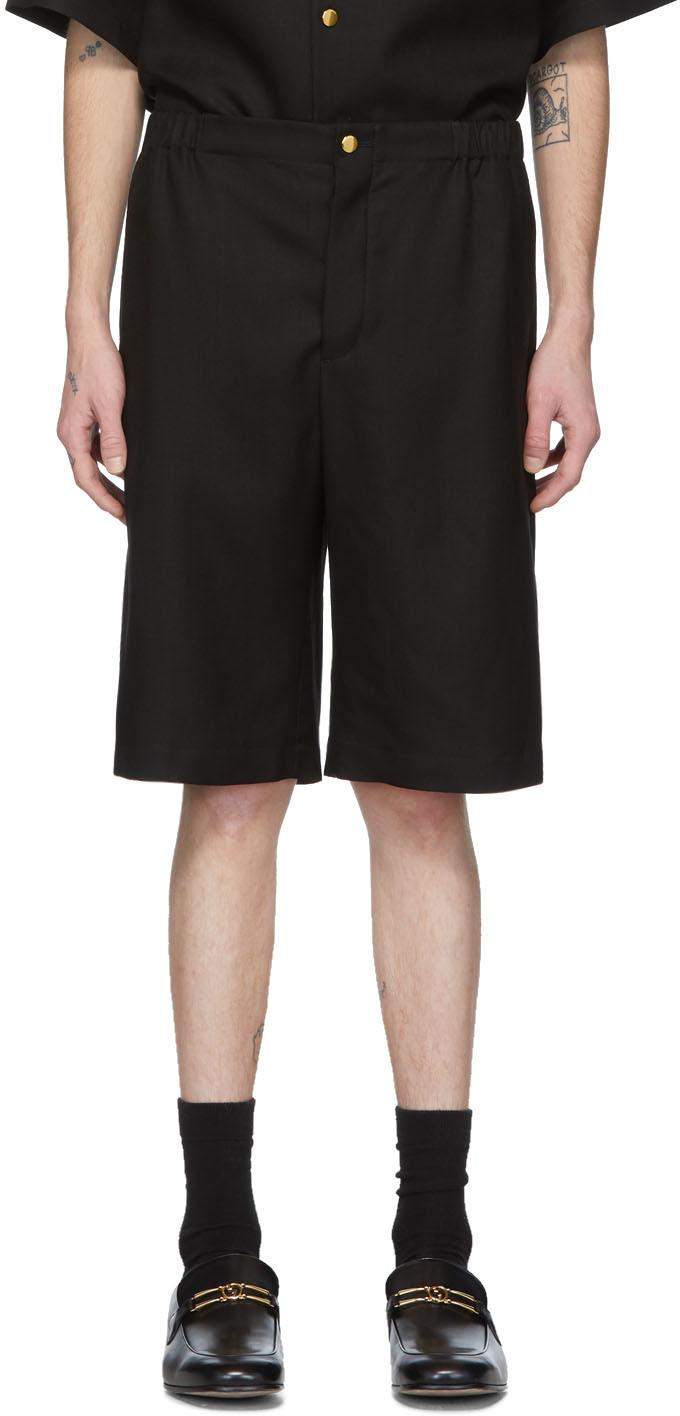 Gucci Black 'Gucci Orgasmique' Linen Shorts