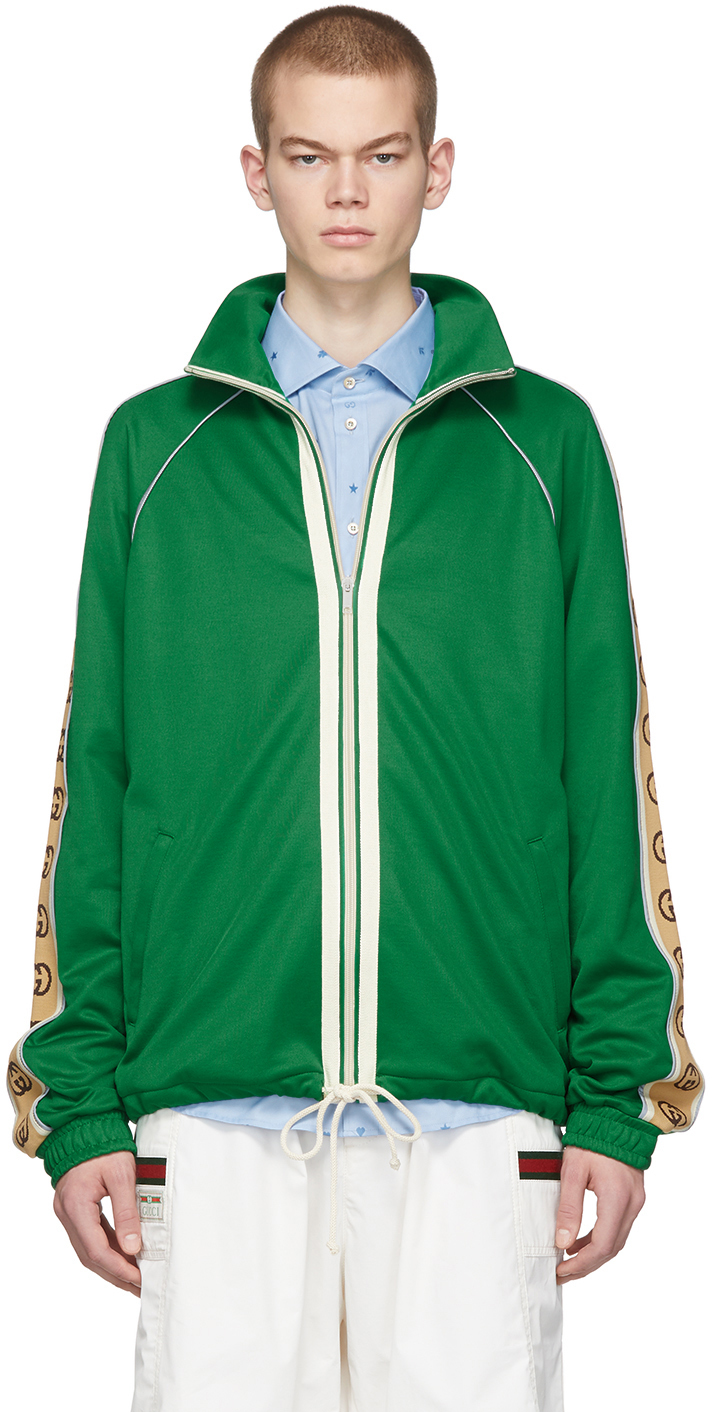 Gucci Green Oversized Technical Jacket