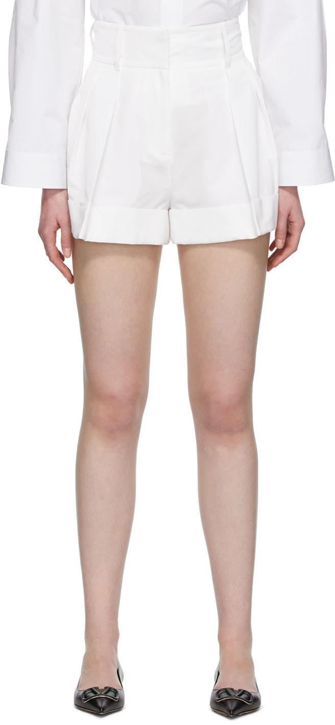 Valentino White High-Waisted Shorts