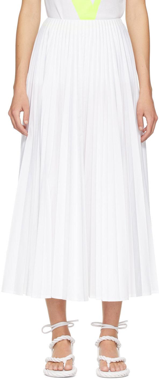 Valentino White Pleated Skirt
