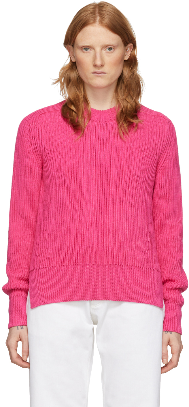 AMI Alexandre Mattiussi Pink Hammer Sleeve Sweater