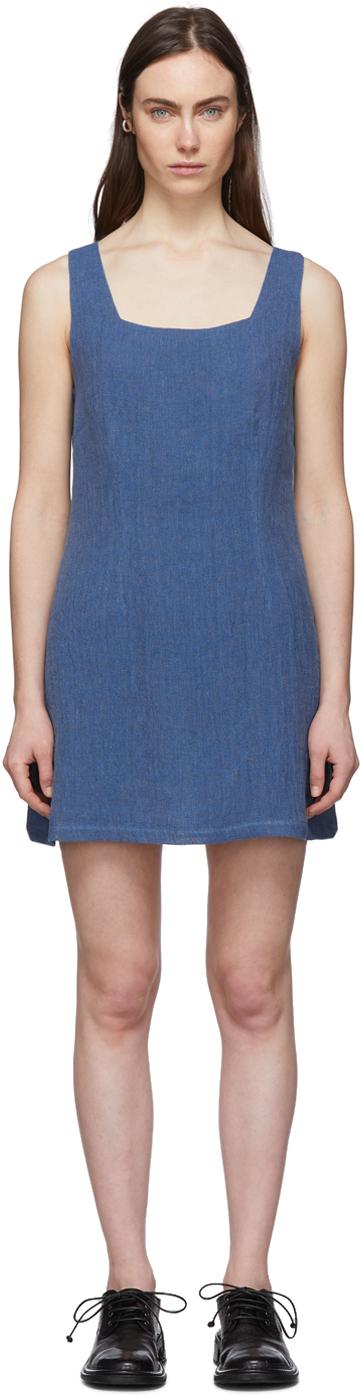 Lisa Marie Fernandez Blue Charlotte Mini Dress