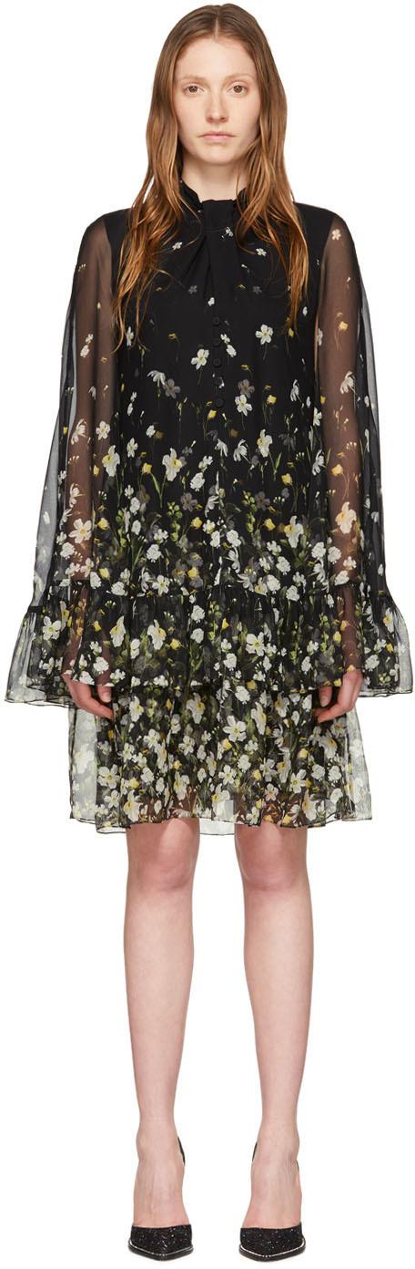 Erdem Black Silk Concetta Dress