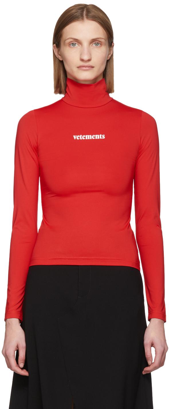 VETEMENTS Red Logo Turtleneck