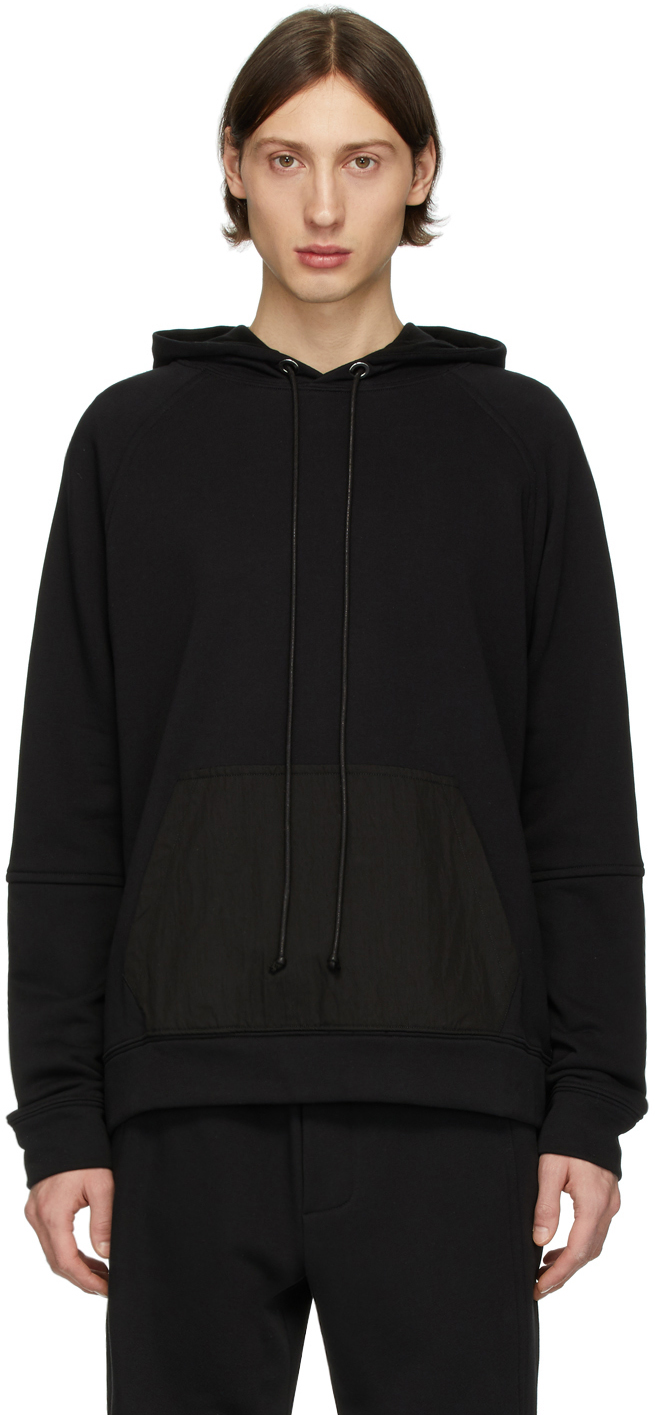 Isabel Benenato Black Back Zip Detail Hoodie