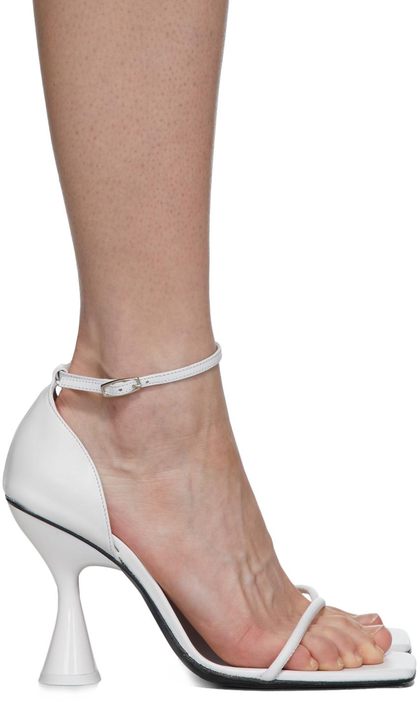 Dorateymur White Strappy Heeled Sandals
