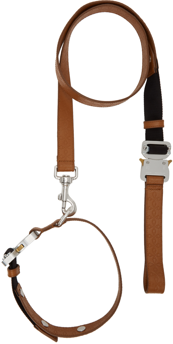 1017 ALYX 9SM Brown Large Dog Collar & Leash Set