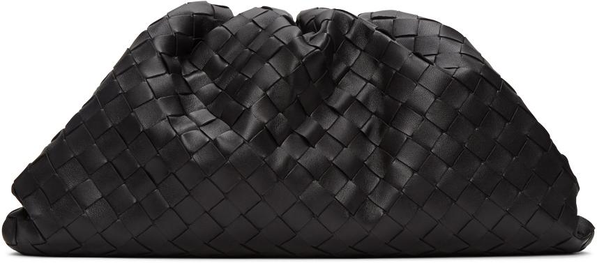 Bottega Veneta Black Intrecciato 'The Pouch' Clutch