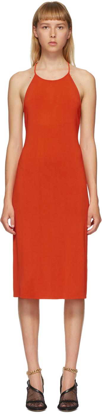 Bottega Veneta Orange Halter Dress
