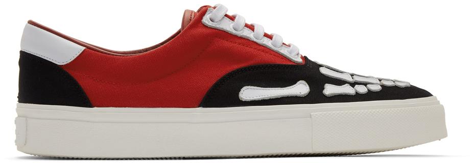AMIRI Black & Red Skeleton Toe Sneakers