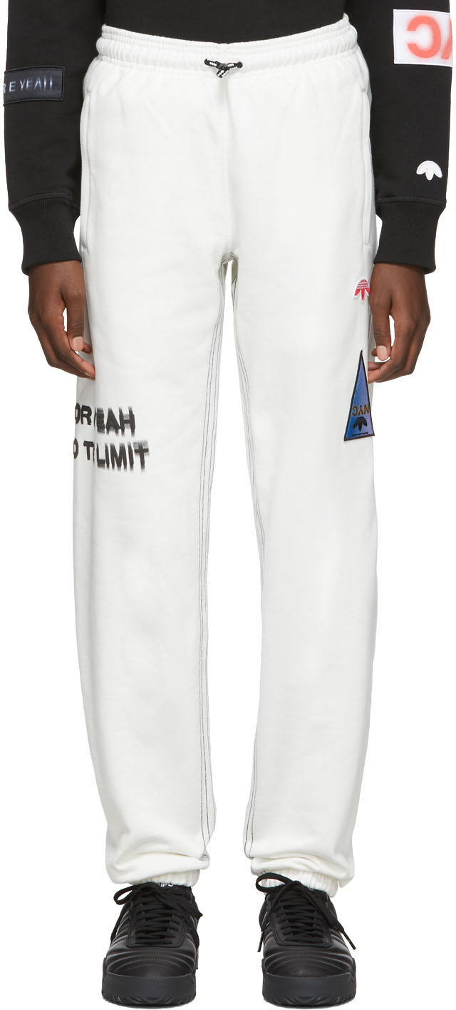 adidas Originals by Alexander Wang Off-White Graphic Lounge Pants