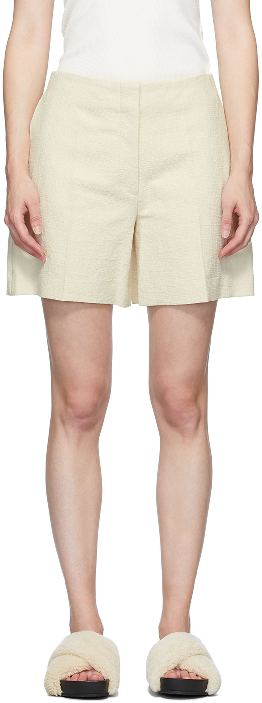 Joseph Beige Canvas Tallin Shorts