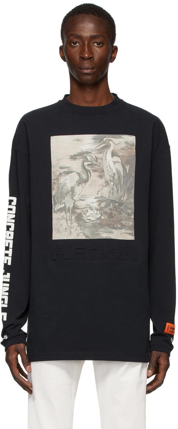 Heron Preston Black Heron Birds Long Sleeve T-Shirt
