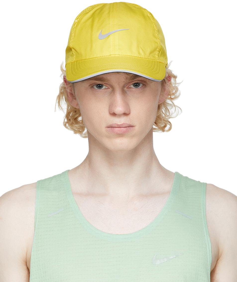 Nike Yellow Aerobill Featherlight Running Cap