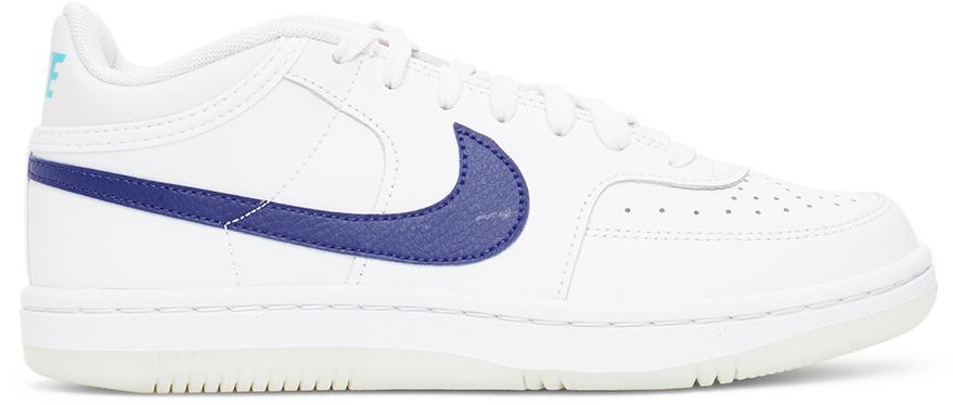 Nike White & Blue Sky Force 3/4 Sneakers