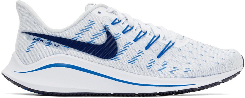 Nike Blue & White Air Zoom Vomero 14 Sneakers
