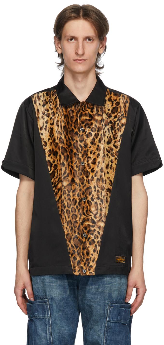 Neighborhood Black Leopard Print Shirt