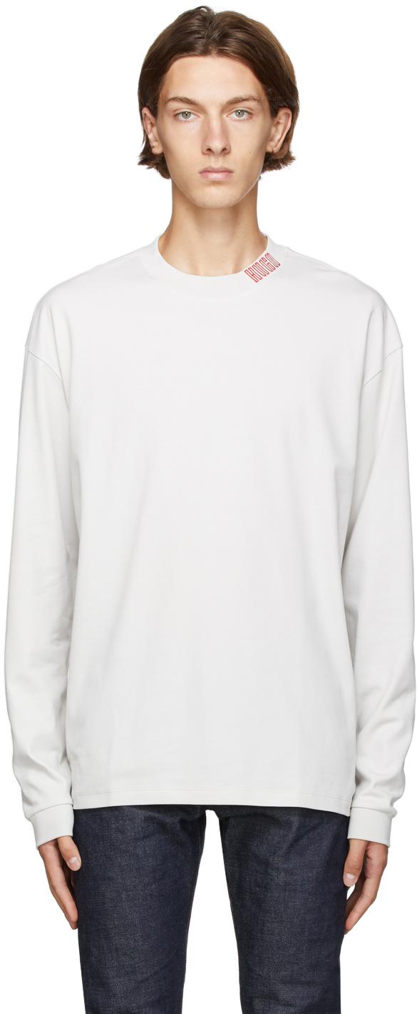 Hugo Off-White Dotch Long Sleeve T-Shirt