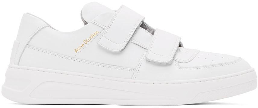 Acne Studios White Perey Strap Sneakers
