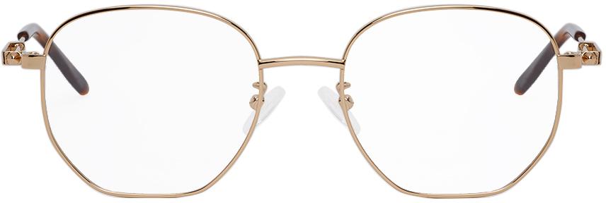 Alexander McQueen Gold Round Glasses