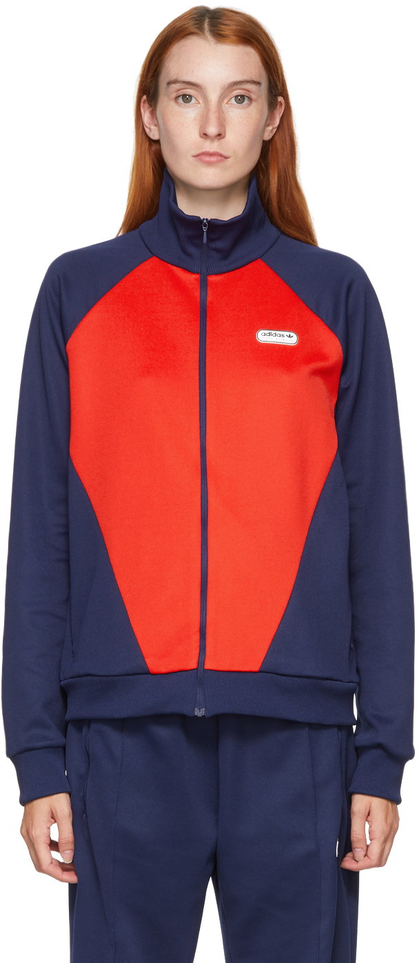 adidas LOTTA VOLKOVA Red & Navy Podium Track Jacket