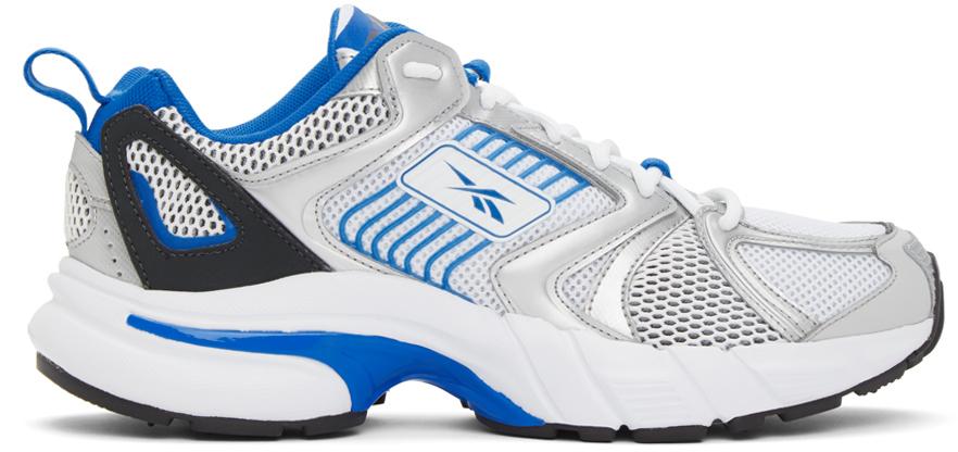Reebok Classics White & Blue Premier Sneakers