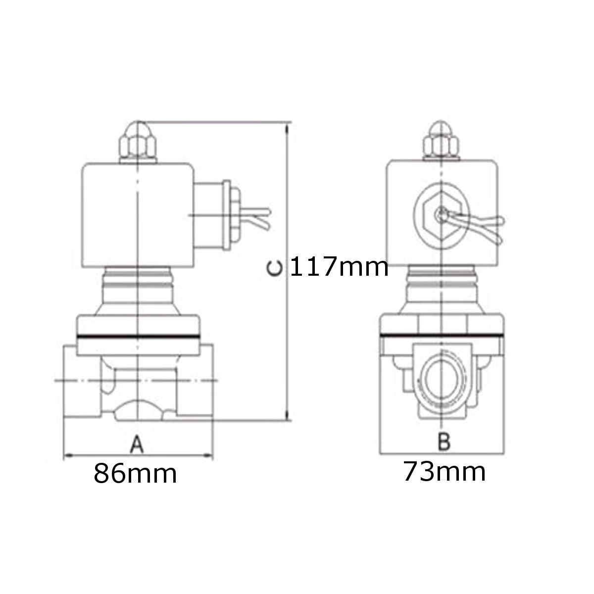 Dc 12v G1inch Electric Solenoid Valve For Air Water Oil Sale