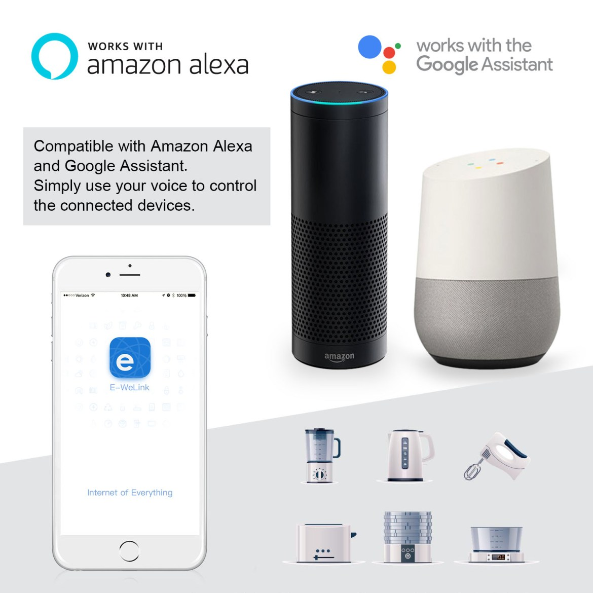 New Arrival & Upgrade EJLink PS1-EU/UK/US 10A 2500W WIFI Wireless Smart Remote Control Socket Plug for Smart Home Work with Amazon Alexa & Google Home
