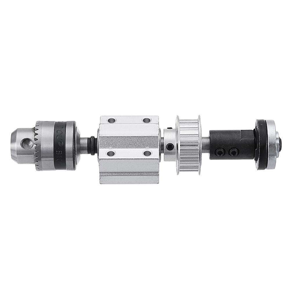 Machifit No Power Spindle Assembly Small Lathe Accessories Trimming Belt JTO/B10/B12/B16 Drill Chuck Set 45