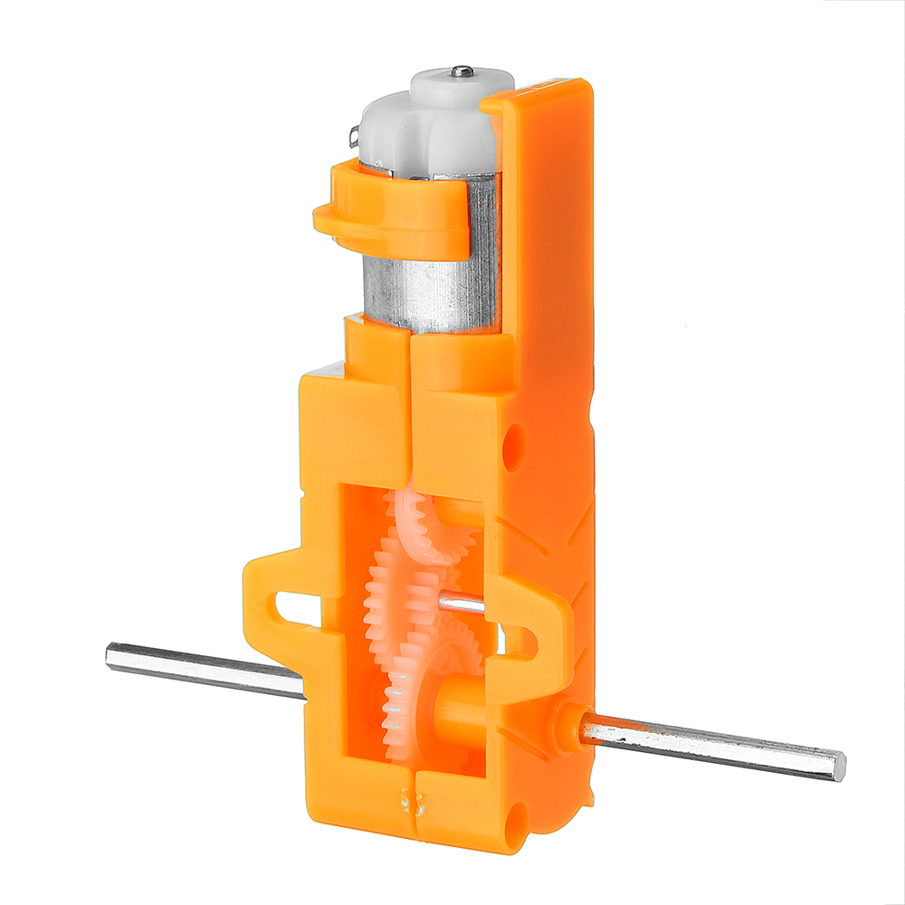 1:28 Transparent/Blue/Orange Hexagonal Axis 130 Motor Gearbox for DIY Chassis Car Model 16