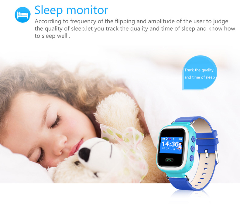 ENOCH Q60 Kids GPS Tracker Sim Card With Pedometer SMS Voice Chat SOS Alarm Smart Watch