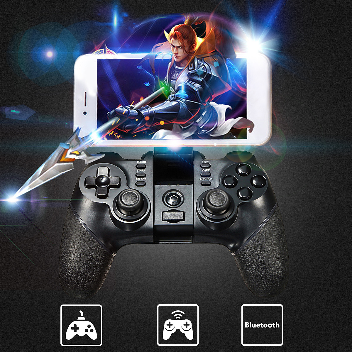 iPega PG-9076 Gaming Bluetooth 2 4G Wireless Wired Controller Gamepad  Joystick For PS3 Android Phone Tablet PC Laptop