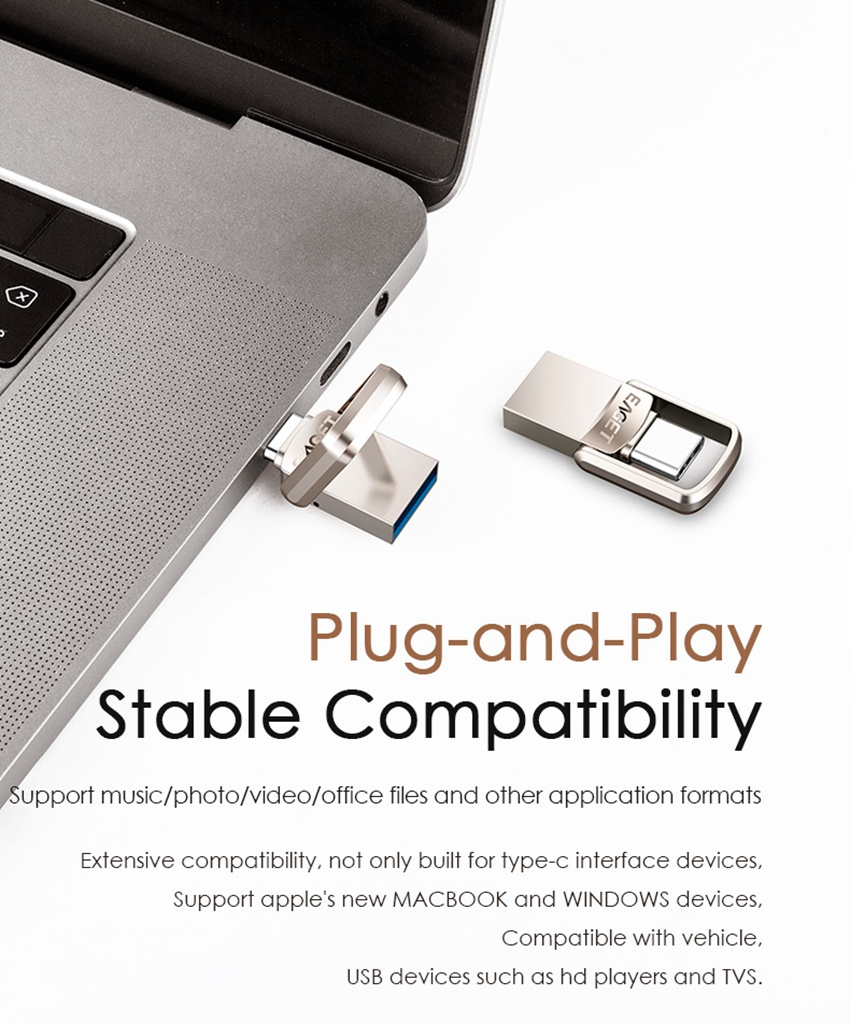 EAGET CU20 USB3.0 Type-C Pendrive USB OTG Type C 16GB 32GB 64GB Metal USB Flash Drive Dual Plug 29