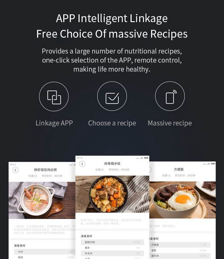 XIAOMI Mijia DFB201CM Small Rice Cooker 1.6L 400W APP Linkage Non-stick rice Cooker 34
