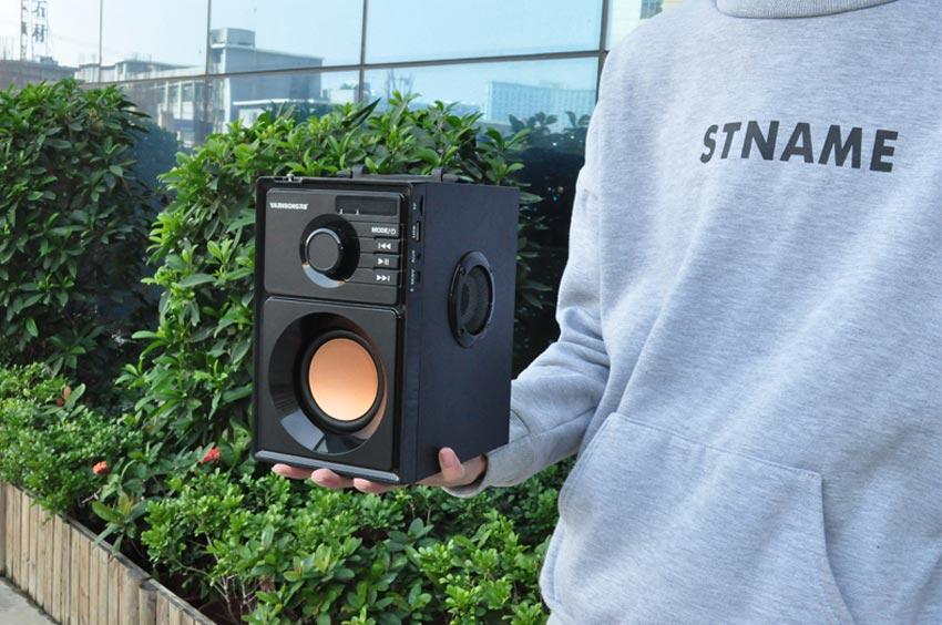 VAENSON A10 Portable Wireless Bluetooth Speaker USB Column MP3 Play FM Radio Stereo Subwoofer 14