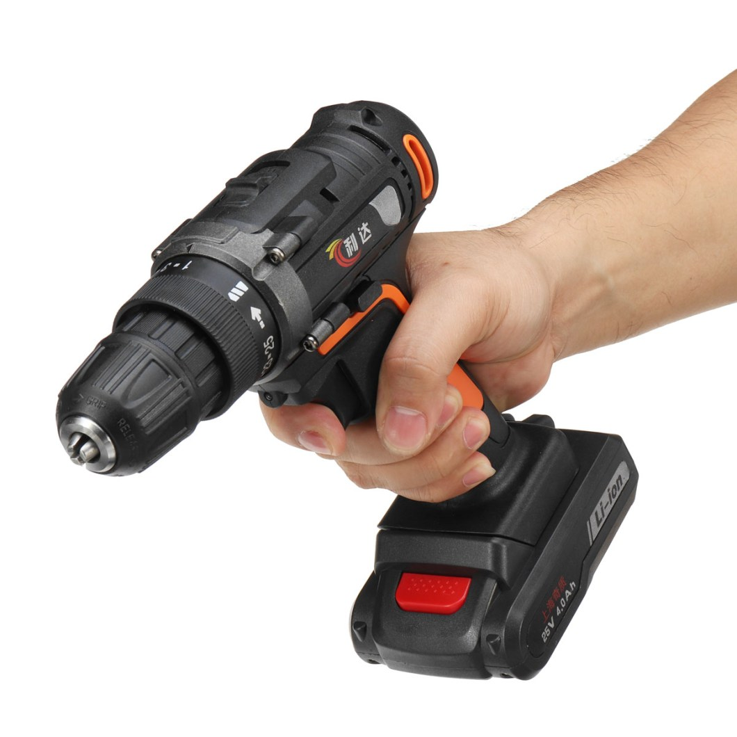 25V 4000mAh Cordless Rechargeable Power Drill Driver Electric Screwdriver with 2 Li-ion Batteries 39