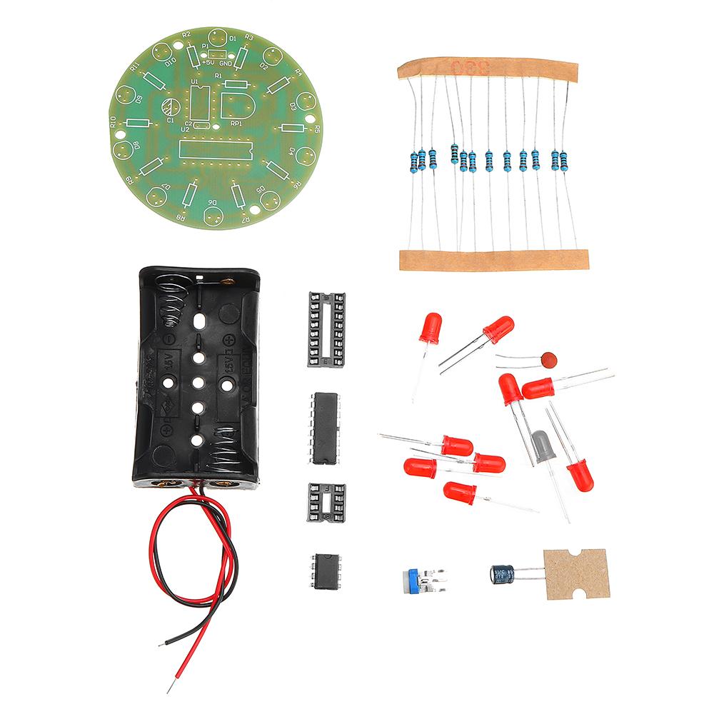DIY 4017 Running Water Light NE555 LED Horse Race Lamp Flash Kit 32