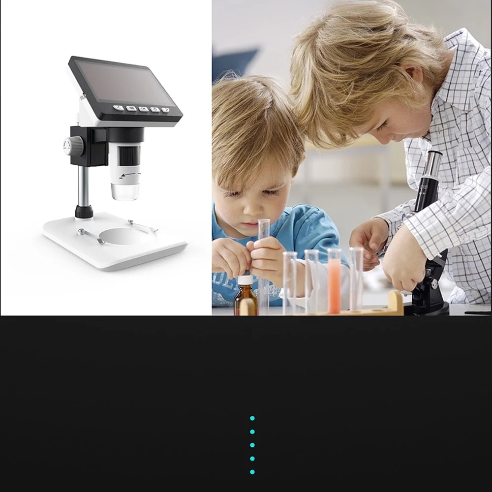 MUSTOOL G700 4.3 Inches HD 1080P Portable Desktop LCD Digital Microscope Support 10 Languages 8 Adjustable High Brightness LED With Adjustable Bracket Picture Capture Video Recording 34