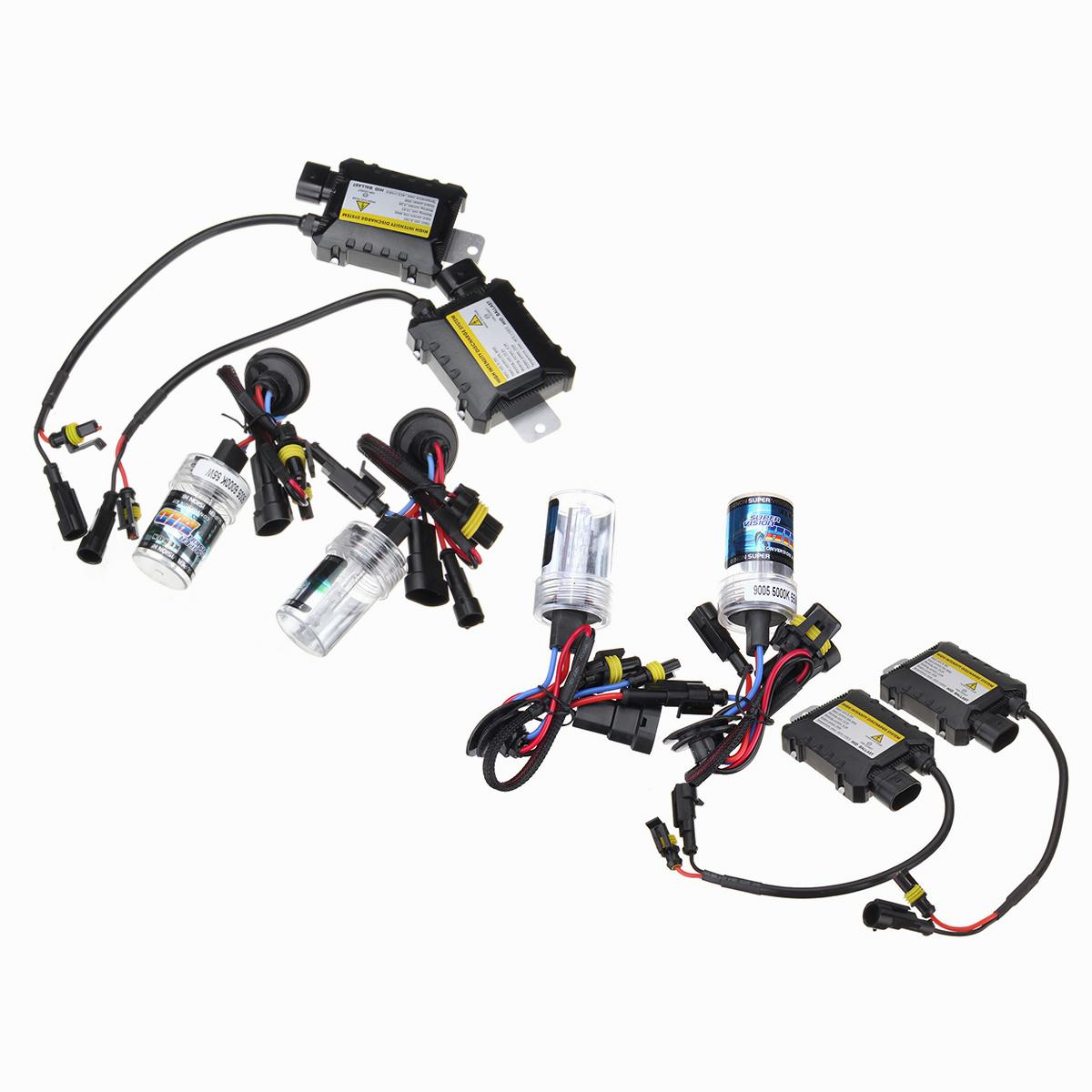 Pair 55w Hid Xenon Car Headlights Fog Lamps Bulbs