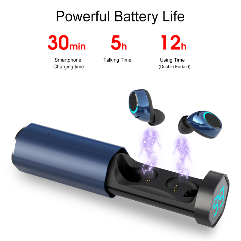 [Bluetooth 5.0] Bakeey T2 TWS Earphone LED Battery Display Smart Touch Binaural Call IPX5 Waterproof 8