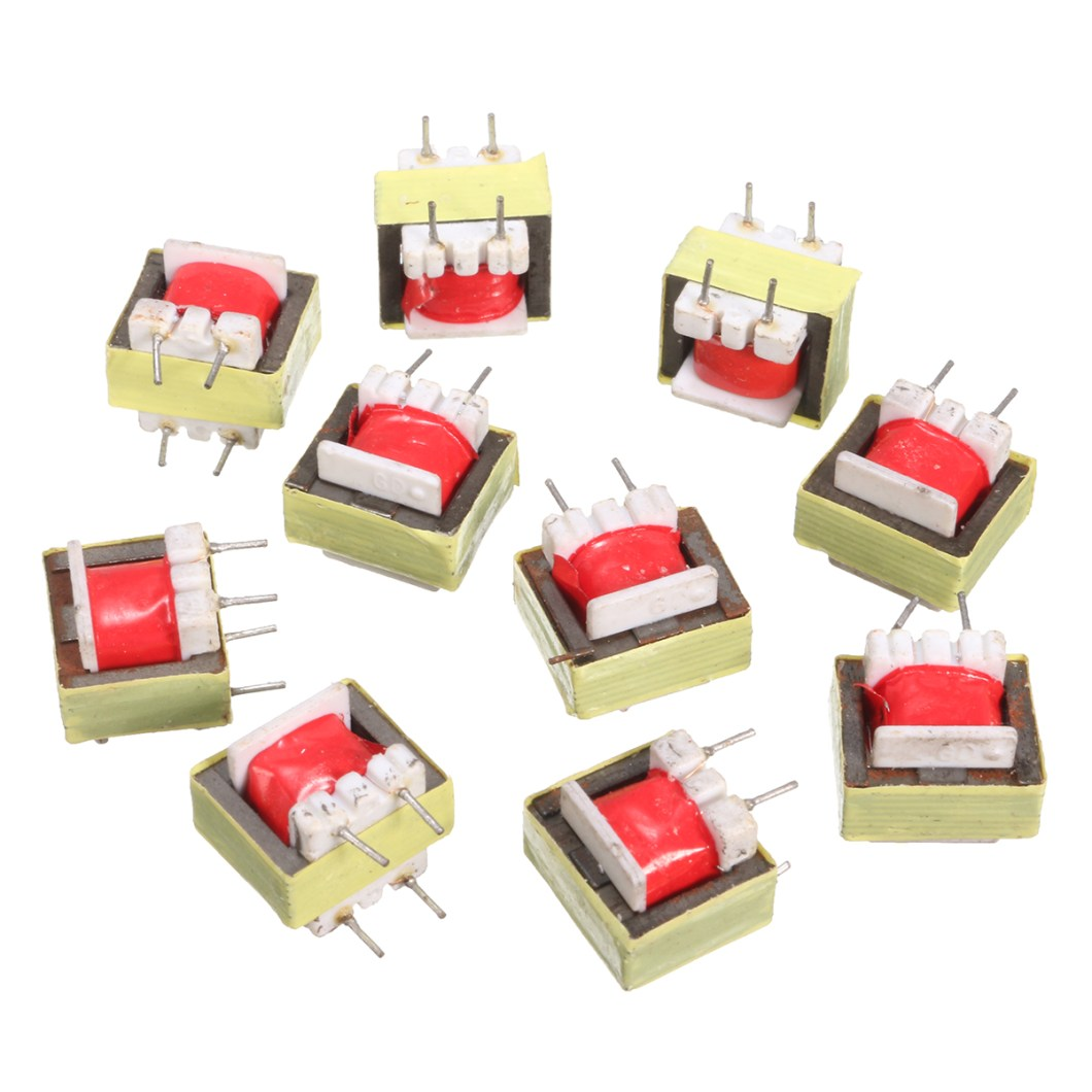 50pcs 1300 : 8 Ohm Audio Transformer EE14 Transformateur Audio POS Transformador 24