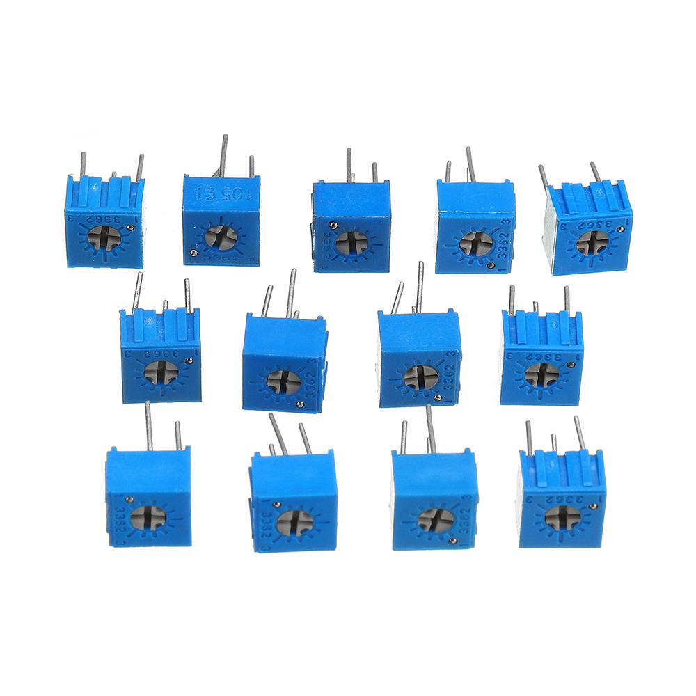 39Pcs 100R-1M Each 1 3362 Potentiometer Package 3362P Adjustable Resistor 28