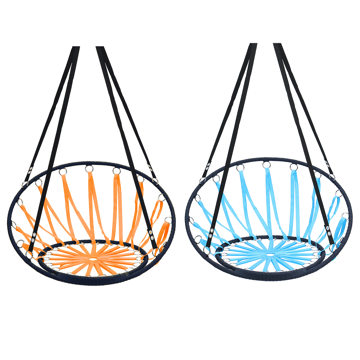 Handmade Knitted Round Hammock Outdoor Indoor Dormitory